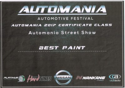 Real Rides Automania 2017 Best Paint Award